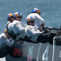Jimmy Spithill and his Oracle Team USA crew © America's Cup World Series